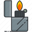 essentials, fire, flame, lighter, outdoor, zippo icon