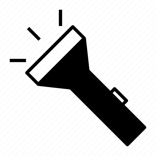 flash, flashlight, illumination, light, tool icon