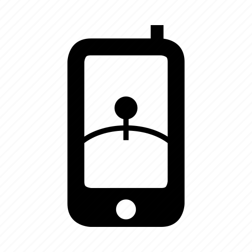 gps, location, map, phone gps, smartphone icon