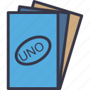 cards, entertainment, fun, game, play, sports, uno icon