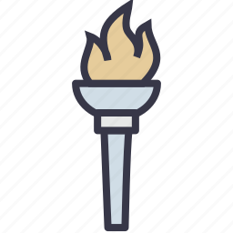 fire, flame, game, light, olympic, torch icon