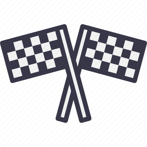 bike, car, flag, race, racing, sports, start icon