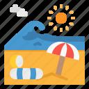 beach, island, landscape, nature, sun icon
