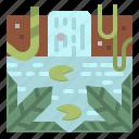 amazon, foress, jungle, landscape, nature icon