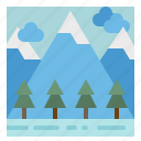 forest, landscape, mountain, nature, tree icon