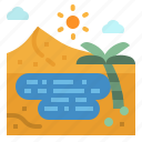 desert, nature, oasis, palm, tree icon