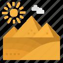 desert, egypt, monuments, nature, pyramid icon