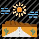 landscape, mountains, road, roadtrip, scenery icon