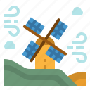 ecological, ecology, mill, nature, windmill icon