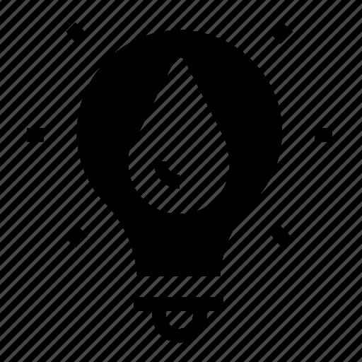 lightbulb, water icon