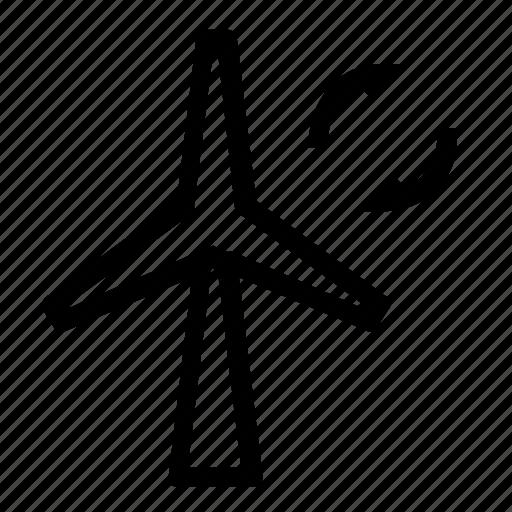 energy, power, windmill icon