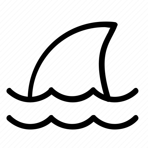 animal, nautical, shark icon