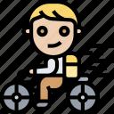 ride, bicycle, bike, travel, wheels