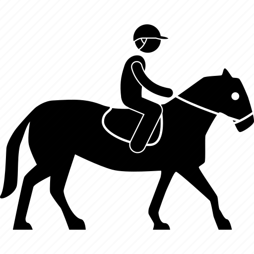 equestrian, equine, horse, man, person, ride, riding icon