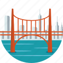 bridge, city, downtown, outdoor, river, san francisco, scenery icon