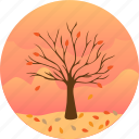 autumn, fall, forecast, leaves, outdoors, season, tree icon