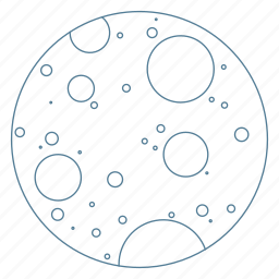 crater, earth, galaxy, moon, orbit, space icon