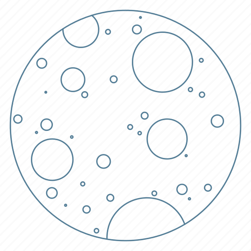 crater, galaxy, moon, orbit, space icon