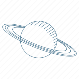 galaxy, milky way, planet, rings, saturn, space icon