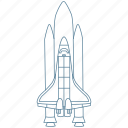 atmosphere, booster, galaxy, launch, ship, space, spaceship icon
