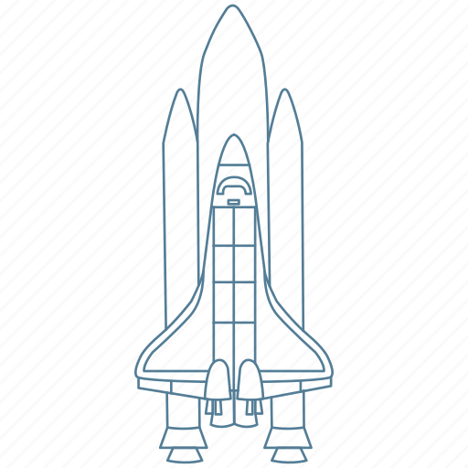 astronaut, booster, galaxy, launch, rocket, space, spaceship icon