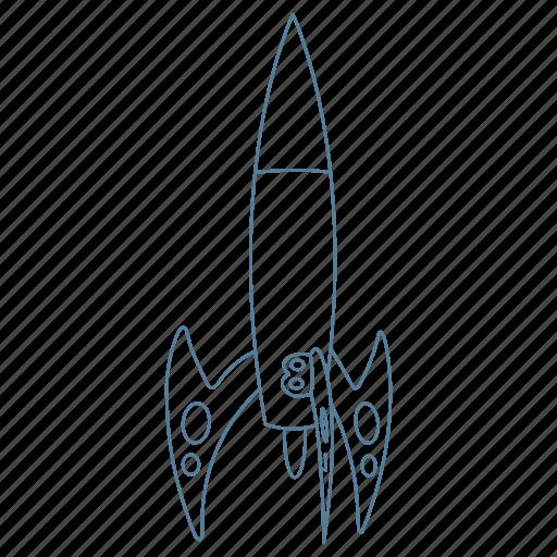 galaxy, launch, rocket, ship, space icon