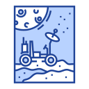 astronomy, exploration, moonwalker, planet, space rover, technology, vehicle icon