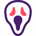 halloween, helloween, mask, october, scream, scream mask icon