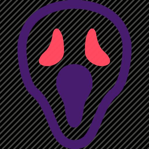 halloween, helloween, mask, october, scream, scream mask icon