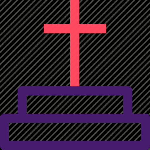 christian, grave, graveyard, halloween, helloween, october icon