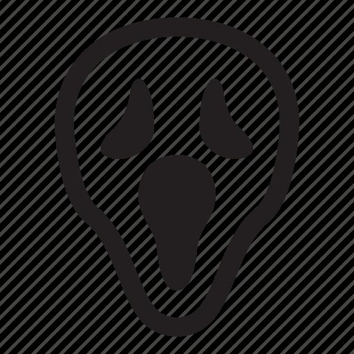 halloween, helloween, october, scream, scream mask icon