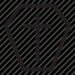christian, coffin, halloween, helloween, october icon