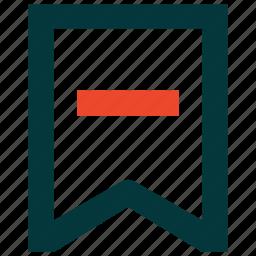 bookmark, favorite, remove, removed icon