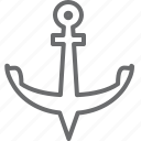 anchor, port, sea icon
