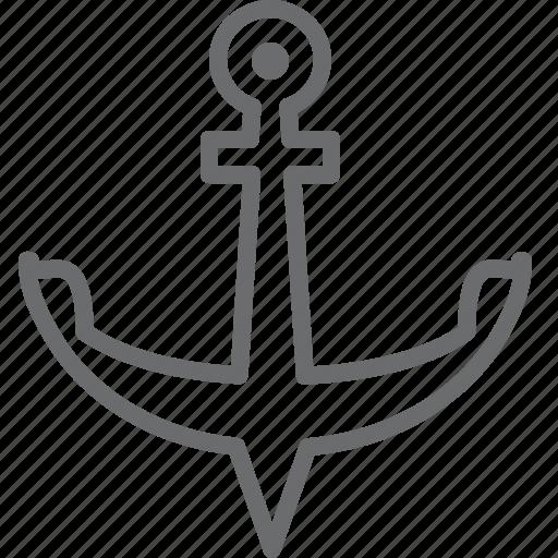 anchor, port, sea icon