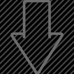 arrow, big, down icon