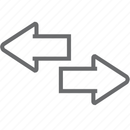 arrow, big, two, way icon