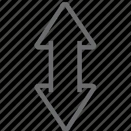 arrow, big, down, up icon