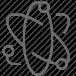 atomic, molecule, radioactive icon