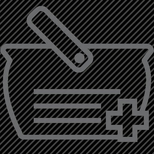 add, bag, shopping icon