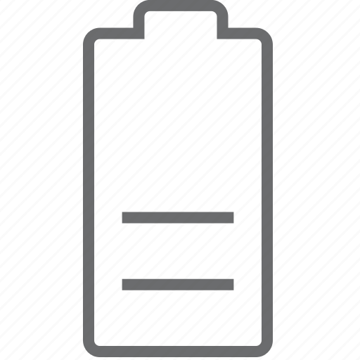 Battery, half icon - Download on Iconfinder on Iconfinder