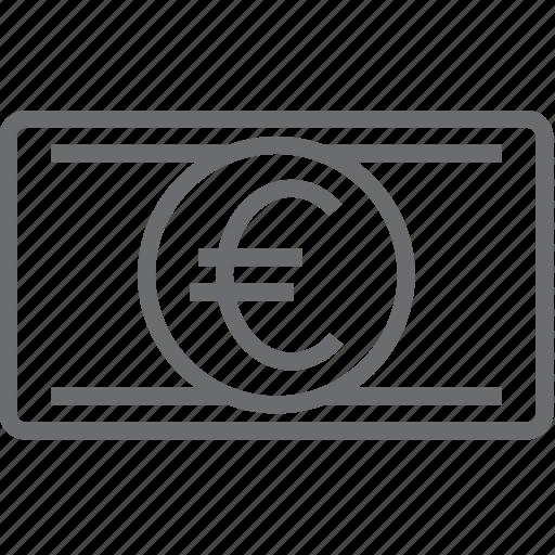 bill, euro, money icon