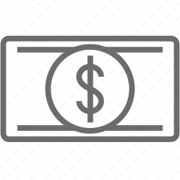 bill, cash, currency, dollar, financial, money, payment icon