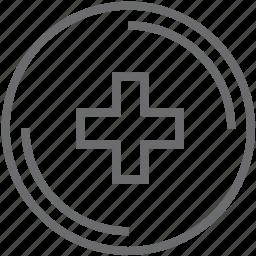 add, button, circle icon