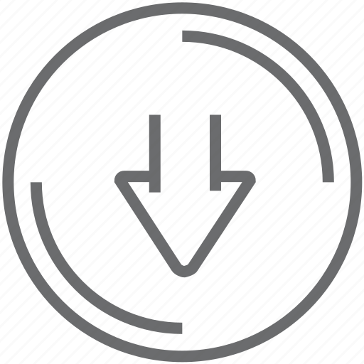 Down, circle icon - Download on Iconfinder on Iconfinder