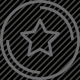 button, circle, favorite icon