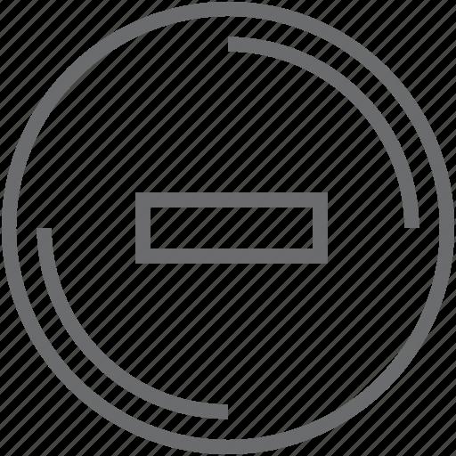 button, circle, stop icon