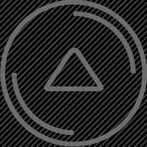 button, circle, up icon