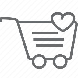 cart, heart icon