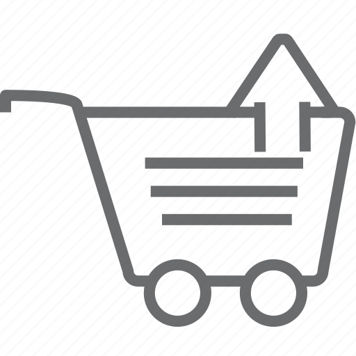 cart, up icon
